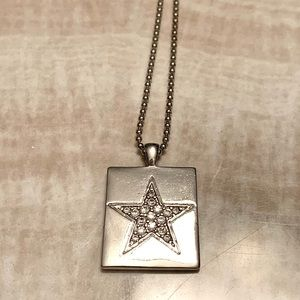 GUESS Jewelled Star Dog Pendant Necklace